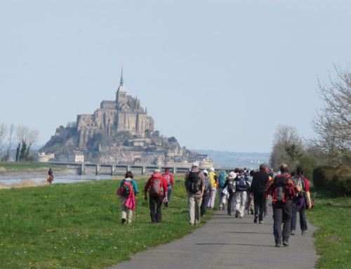 La section rando en balade au Mont St Michel
