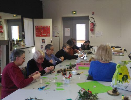 Les ateliers de Noël en action…
